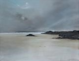 Beach Life 171116 by Cornwall,City, Art by John Greig, Painting, Oil and Acrylic on Canvas