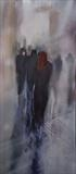 City Life (Red  120513 ) by Cornwall,City, Art by John Greig, Painting, Oil on canvas